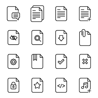 Files icon icon pack, outline icon style
