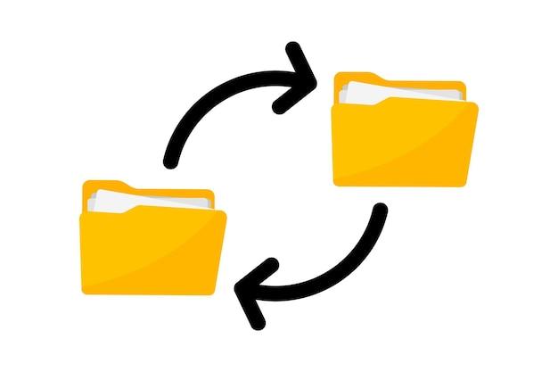 파일 전송 문서 전송 종이 파일이 있는 폴더 파일 공유