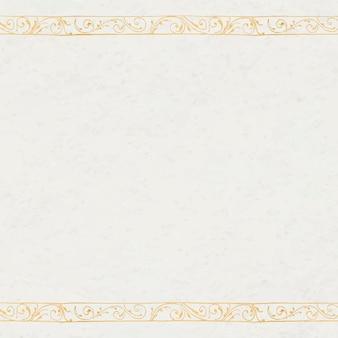 Filigree border in gold