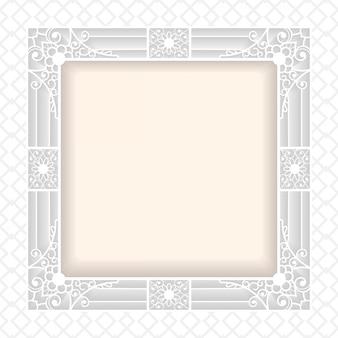 Filigree frame paper cut out. baroque vintage design
