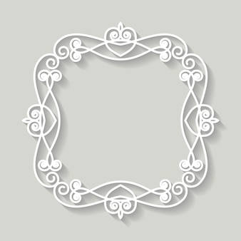 Filigree frame paper cut out. baroque vintage design