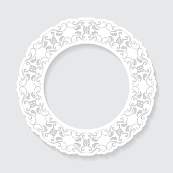 Filigree frame paper cut out.