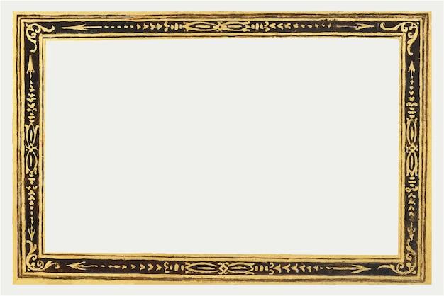 Ажурная золотая рамка