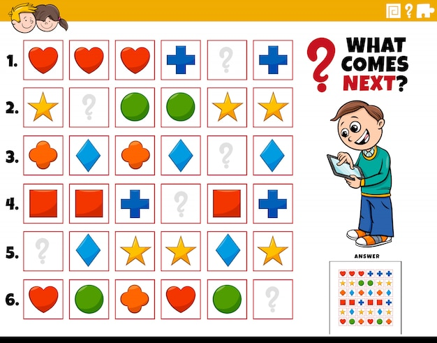Fill the pattern educational activity for children
