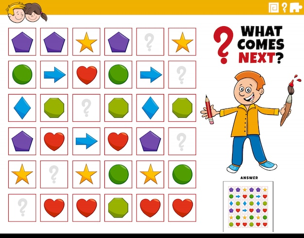 Fill the pattern educational game for children