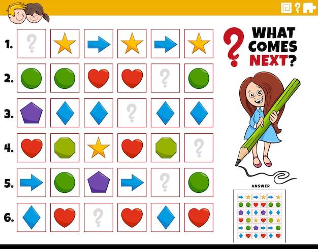 Fill the pattern educational task for children