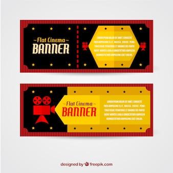 Пленочные баннеры в плоском дизайне