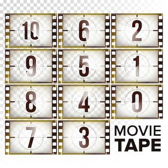 Film countdown numbers 10 - 0