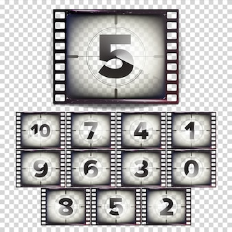 Film countdown numbers 10 - 0