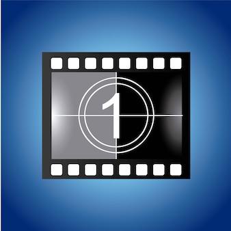 Film design over blue background vector illustration