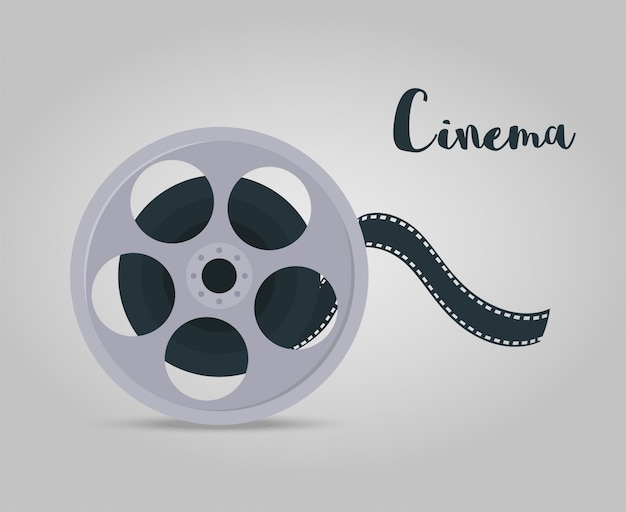 Film disk with tape for cinema, cinematography