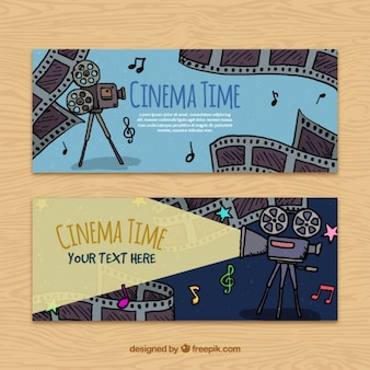Film elements sketches banners