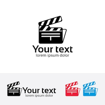 Film folder vector logo template.