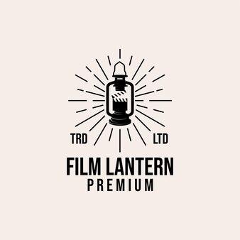 Film lantern vintage premium logo