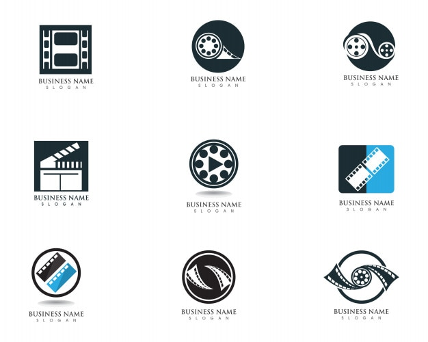 Film logo and symbols vector template