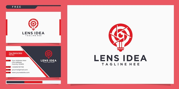 영화, 영화, 비디오, 촬영 로고. 로고 디자인과 명함