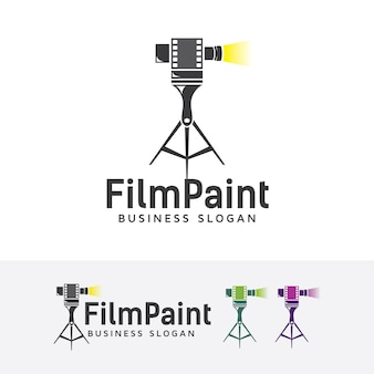 Film painting logo template