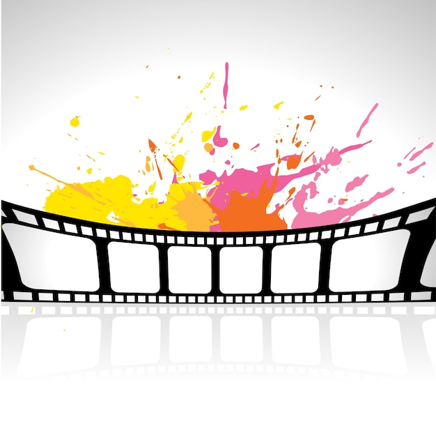 Film reel abstract background