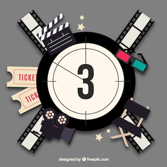 Film reel countdown