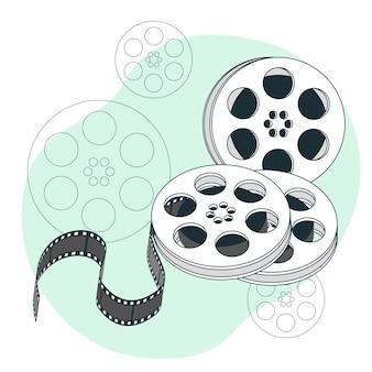 Illustrazione del concetto di rotoli di pellicola