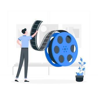 Иллюстрация концепции рулонов пленки