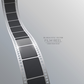 Film strip background in realistic style