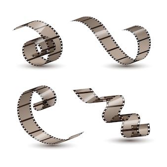 Film strip roll for movie entertainment illustration
