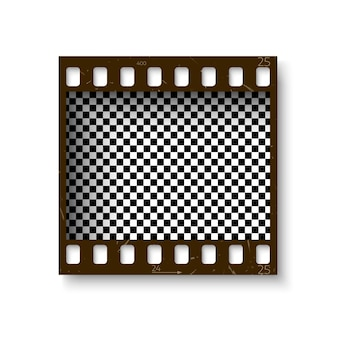 Film strip set. collection of film for the camera. cinema frame. template on transparent background