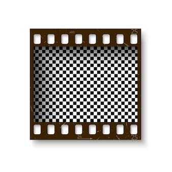 フィルムストリップセット。カメラ用フィルムのコレクション。シネマフレーム。透明な背景のテンプレート