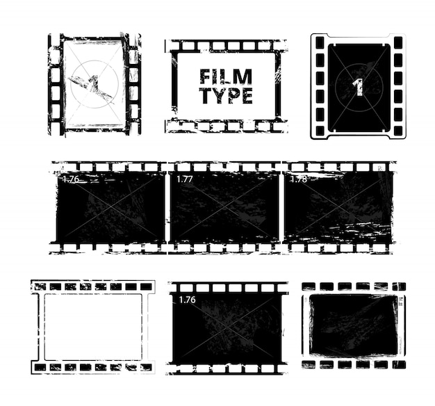 Film strip template.