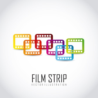 Film stripe over gray background vector illustration