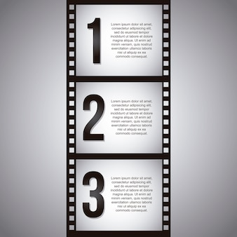 Film stripe over gray background vector illustration