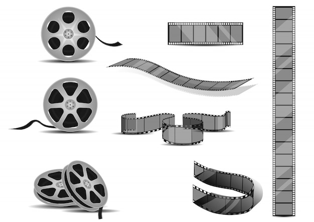 Film strips rolls set.