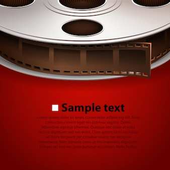 Кинопленка на красном фоне