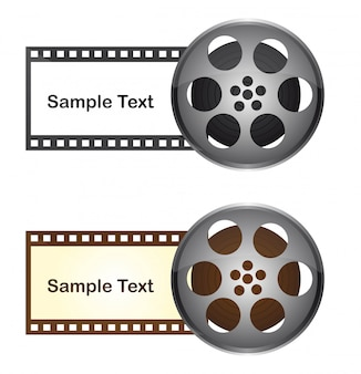 Film tape with space to copy over white background vector