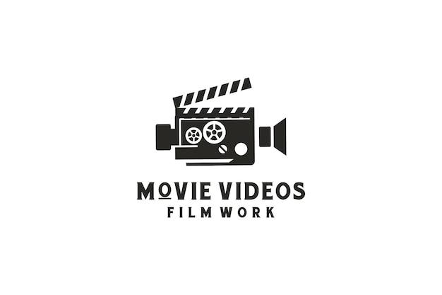 Film video camera logo design