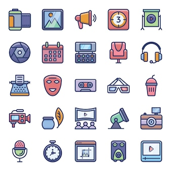 Filmmaking vectors pack