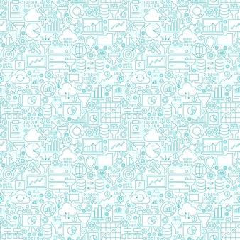 Filter funnel seamless pattern. vector illustration of outline background.