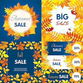 Final autumn sale banner set