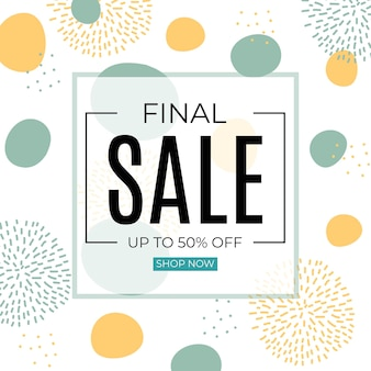 Final sale abstract banner in simple minimal style