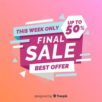 Final sale banner template