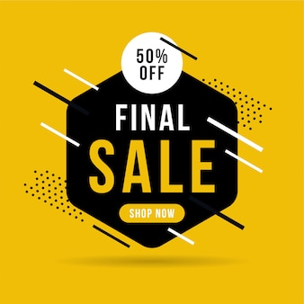 Final sale banner, up to 50% off.