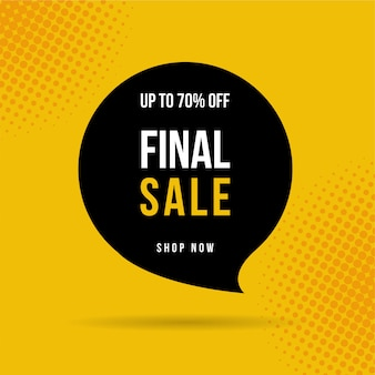 Final sale banner, up to 70% off..
