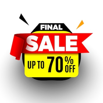 Final sale banner with red ribbon.