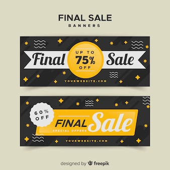 Final sale banners