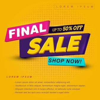 Final sale discount