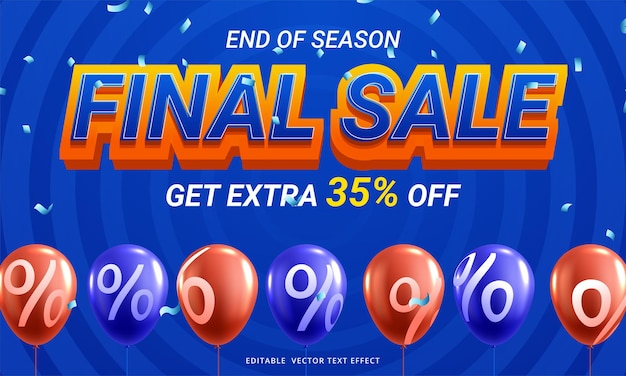 Final sale horizontal banner with discount