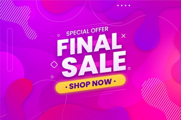 Final sale horizontal banner