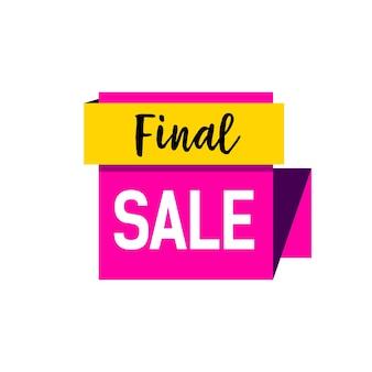 Final sale lettering