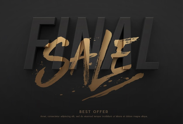 Final sale poster or flyer design.